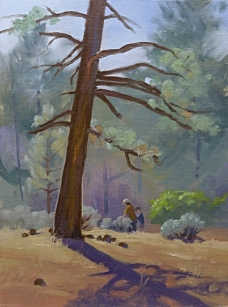 a stroll at cottonwood | 12″ x 92″ oil on canvas board SOLD private collection