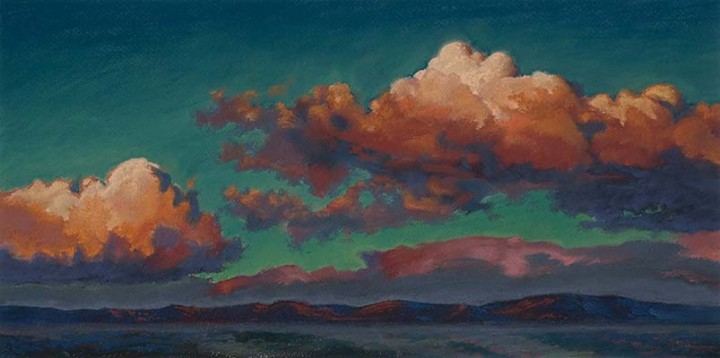 dusk over the sierra  |  pastel study - Renown permanent collection