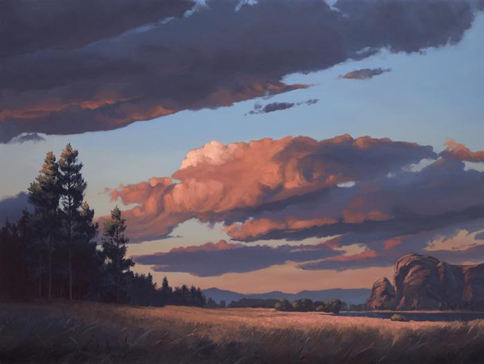 "evening light | 30"" x40"" oil on canvas"