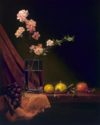 "gourds and roses | 30"" x 24"" oil on canvas - private collection"