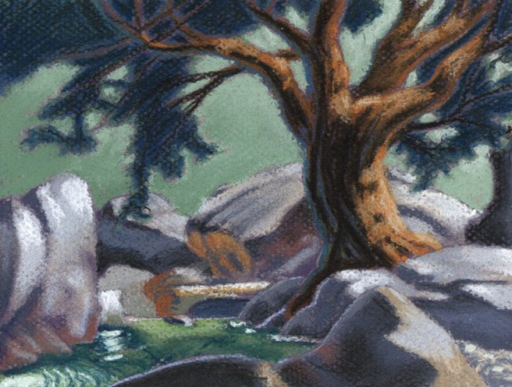 loves creek  |  pastel study