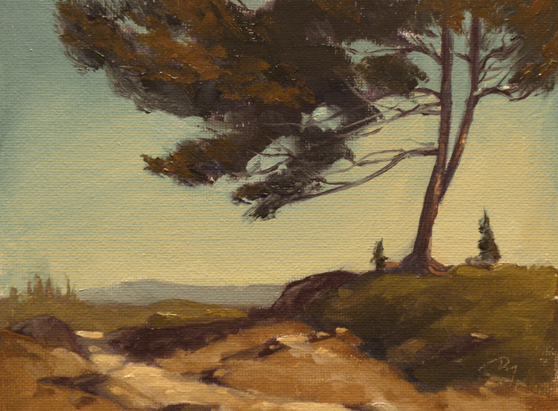"big bear trail  |  6"" x 8"" oil on canvas board SOLD private collection"