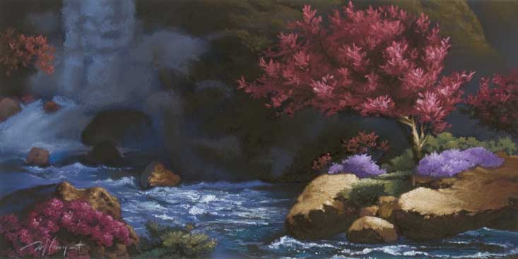 moment of eternal spring  |  pastel study - 2 - Renown permanent collection