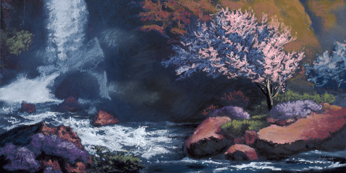 moment of eternal spring  |  pastel study - 3