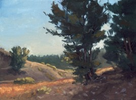 "mount rose trail | 9"" x 12"" oil on canvas board - SOLD private collection"