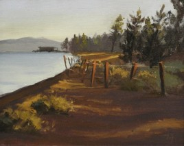 "nevada beach sunrise - tahoe | 8"" x 10"" oil on canvas board - SOLD private collection"