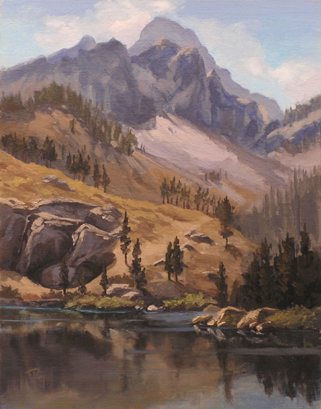 on the trail sierra buttes  |  oil study - Renown permanent collection