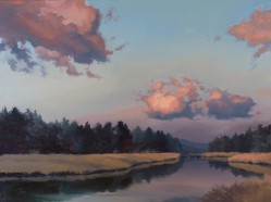 truckee in twilight | 18 x 24 in. oil on canvas | SOLD private collection