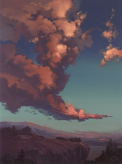 windswept clouds | 40 x 30 in. oil on canvas
