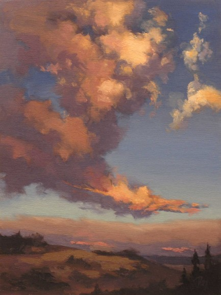 windswept clouds  |  oil study - private collection