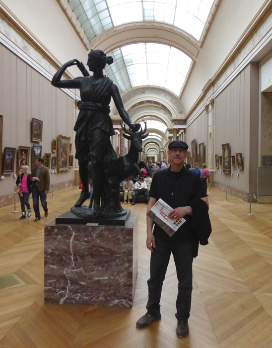 An image of me at the  Musée du Louvre in Paris last year. Extraordinary.