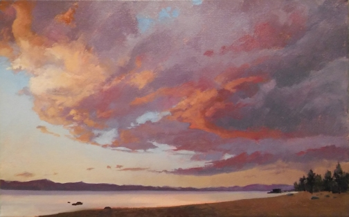 tahoe gold - study | 15 x 26 in. oil on canvas | private collection