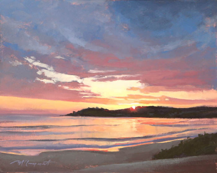 carmel sunset  |  12 x 9 in. oil on canvas board