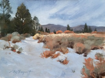 late snowfall | 12 x 9 in. oil on canvas board- SOLD private collection