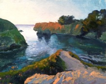 mendocino coast | 12 x 9 in. oil on canvas board- SOLD private collection